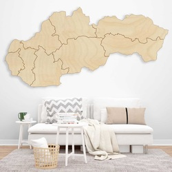 Wooden wall map Slovakia - 8 pieces   SENTOP