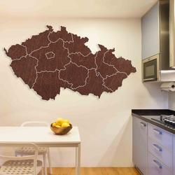 Wooden wall map Czech Republic - 14 pieces | SENTOP