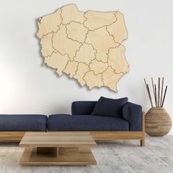 Wooden wall map Republic of Poland - 16 pieces   SENTOP