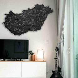 Wooden wall map Hungary - 40 pieces   SENTOP