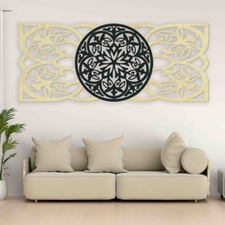 Mandala picture on the wall made of plywood rear part Poplar original, color of front part of your choice