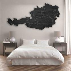 Harta din lemn pe peretele Austriei - 10 buc | SENTOP