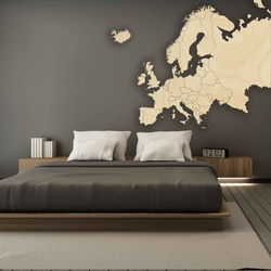 Wooden map on Europe wall   SENTOP