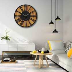 Wall wooden clock roman numerals Oak