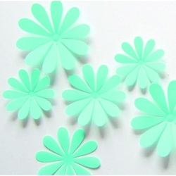 3D Color Decoration - Turquoise - 1 pack contains 12 pcs