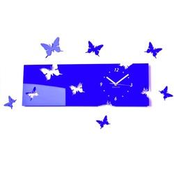 Plastic clock blue EVITA. Dimensions 60 x 49 cm