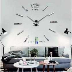 Wall-mounted wall clock PROFI SILVER MIRROR.