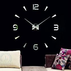 Large mirror wall clock - LUJZA