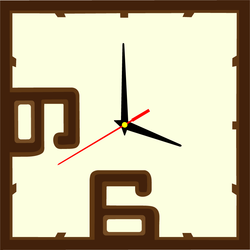 Wall Clock Numbers color: dark brown, brown, white coffee ERIC