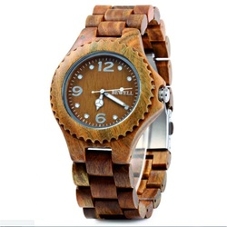 Wooden Wristwatch Three Numbers