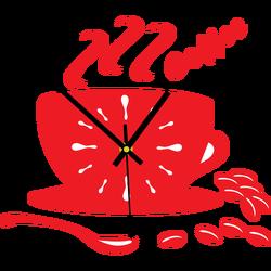Color Wall Clock VESTA, color: red