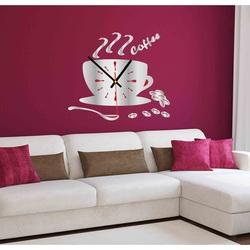 Color Wall Clock VESTA, Color: Mirror, SILVER