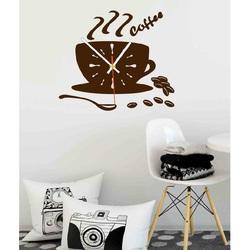 Color Wall Clock VESTA, color: dark brown
