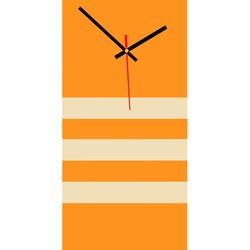 Elegant 3D wall clock NATZ, color: orange, white coffee