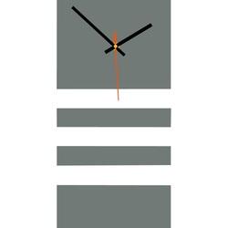 Elegant 3D wall clock NATZ, color: gray, white