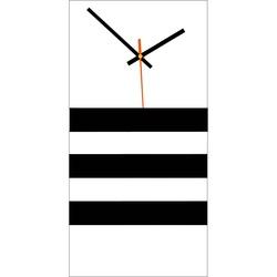 Elegant 3D wall clock NATZ, color: white, black