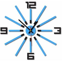 3D color WARRAS wall clock, color: black, light blue