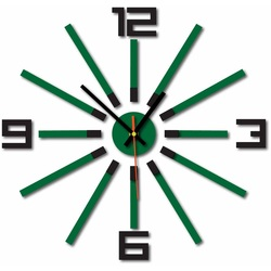 3D color wall clock WARRAS, color: black, dark green
