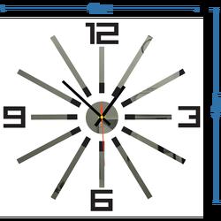 3D colored wall clock WARRAS, color: black, gray