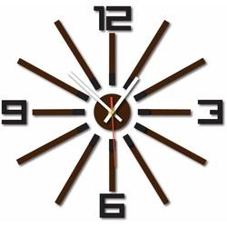 3D color clock WARRAS, color: black, dark brown