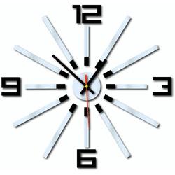 3D colored wall clock WARRAS, color: black, mirror