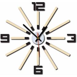 3D color clock WARRAS, color: dark brown, white coffee