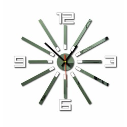 3D color WARRAS wall clock, color: white, mirror