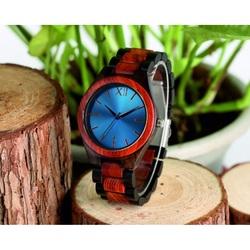 Wooden Wristwatch- Blue Twelve-Yisuya