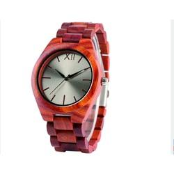 Wooden Wristwatch- The Red Twelve-Yisuya