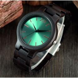 Luxury Wooden Wristwatch- Blue 12-Yisuya