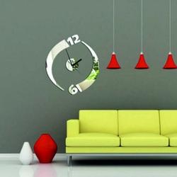 Modern adhesive wall clock Juliet, mirror.