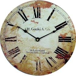 Stylish Clock Roman retro wood MDF. Fi 30 cm