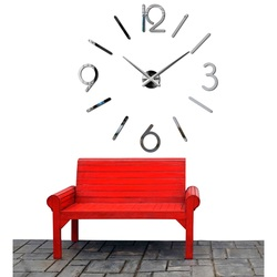 3D stylish wall clock into living room-MACKIE
