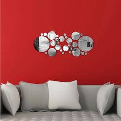 Mirror DIY decoration circles. 600x400x3 mm