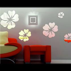 Mirror sticker flower size: one set consists of 25 leaves (5 pieces of flower) fi: 24 cm, 18 cm, 14 cm, 12 cm, 10 cm