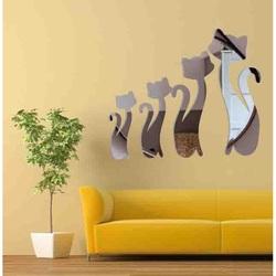 Modern wall sticker - Black cats
