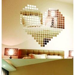 Mirror Wall Sticker - Fantasy, 1 set contains 100 pieces