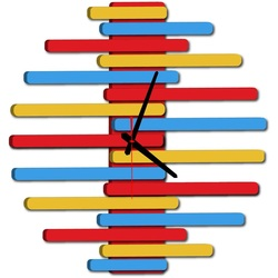 Modern wall clock -JUNONA, color: RAL1028-RAL5015-RAL3000