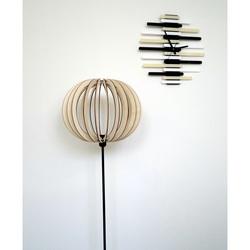 Elegant stand light, color: light poplar