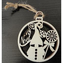 Wooden Christmas decoration, size: 8.6cm x 7cm