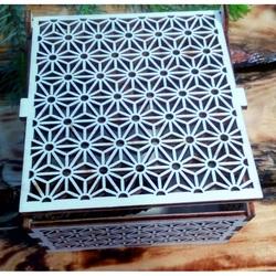 Vintage wooden box - Easy, size: 12,6x12,6x8,2 cm, folded