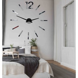 Elegant clock on the wall  BOMER 2D PLEXI