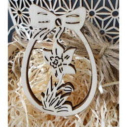 Wooden decoration for Easter, size: 80x54 mm