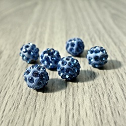 Shamballa bead - light blue FI 10 mm