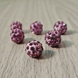 Shamballa bead - signal violet FI 10 mm