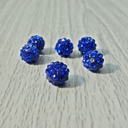 Shamballa bead - royal blue FI 10 mm