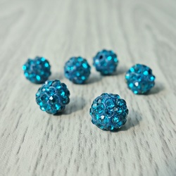 Shamballa bead - capri blue FI 10 mm