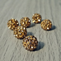 Shamballa bead - sand FI 10 mm