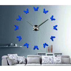Modern Plastic Wall Clock - Butterflies
