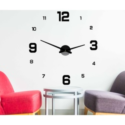 3D wall clock made of plastic - DESIRE